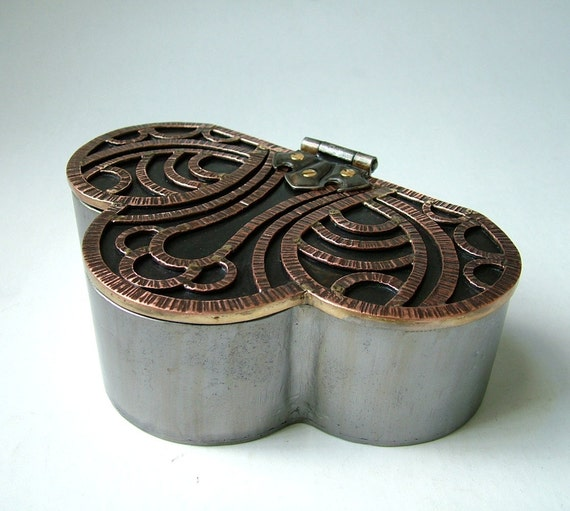 Steel and Copper Reliquary Box