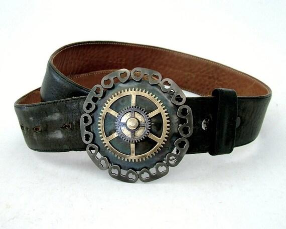 Brass Gear Buckle: Compass Rose