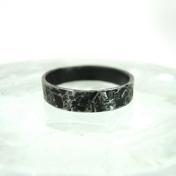 Black Iron Distressed Ring