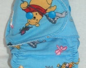 Fitted Small Cloth Diaper- 6 to 12 pounds- Winnie the Pooh