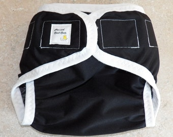 Preemie Newborn PUL Diaper Cover- 4 to 9 pounds- Black