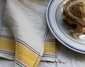 Vintage Linen Toweling Fabric Napkins
