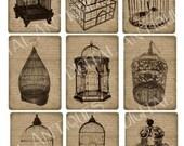 Victorian Birdcage Designs Printable Digital Download
