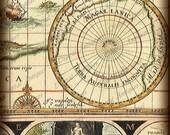 Vintage Map Backgrounds Collage Sheet Instant Digital Download