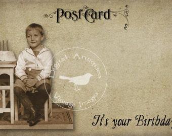 Birthday Post Cards Vintage Printable  Digital Download