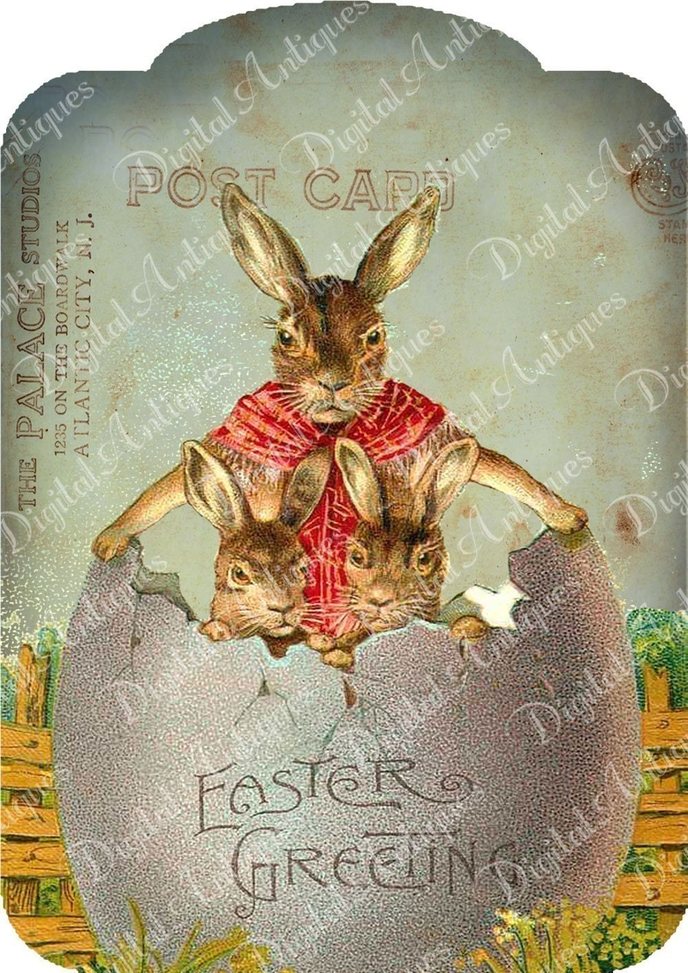 vintage easter bunny - photo #45