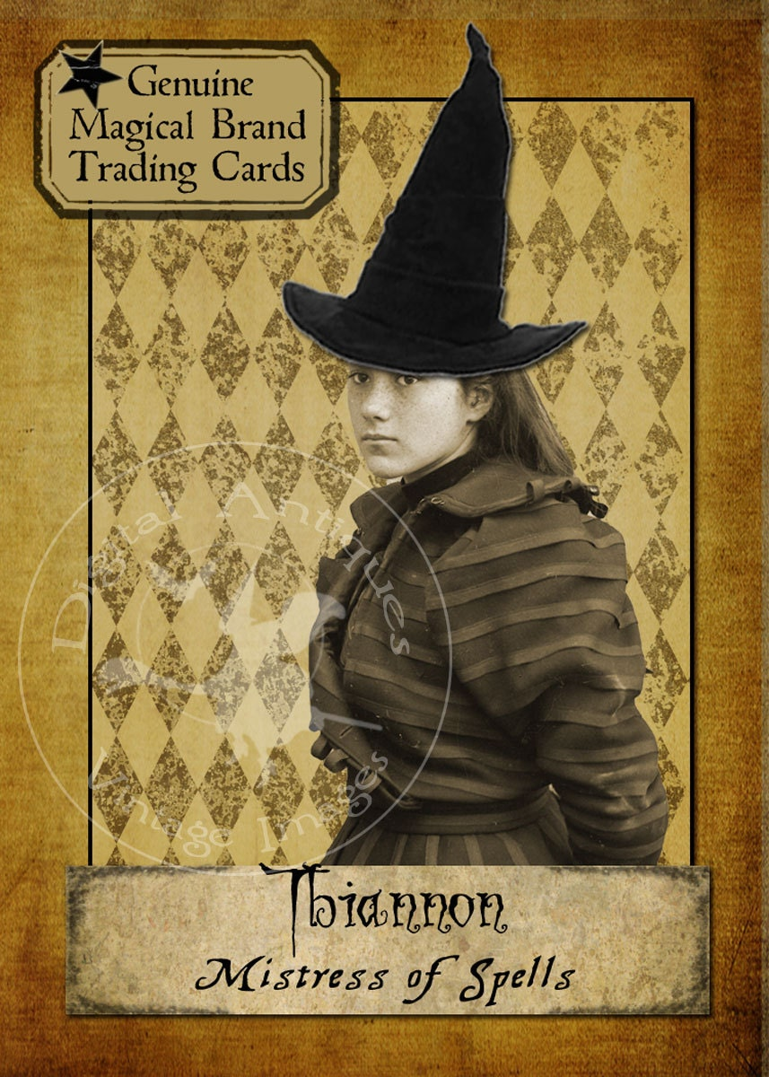 halloween witches vintage trading cards digital download