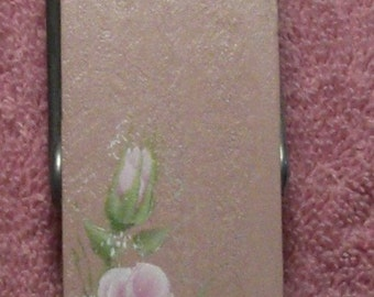 Pink Rose Memo 6 inch Clothespin