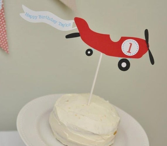 Airplane Cake Topper Personalized