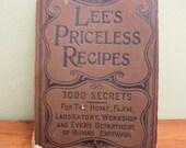 Vintage Book - Lee's Priceless Recipes 1895 - RARE