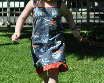 Daddy's little girl. Easter, Sundress/ dress upcycled from dad's button-down shirt ECO FRIENDLY