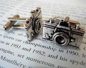 Silver tone / SLR Camera cuff links