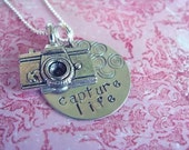 Picture Me Pretty / Sterling silver pendant Necklace / Personalized by you