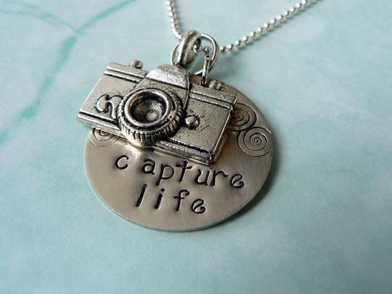 Capture Life / Camera charm Necklace / Personalized by you