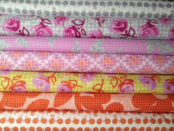 Erin McMorris Weekends, Lilyrose, Go By Bike, Dots and Loops, 10 yards  Create Your Own Bundle