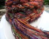 Crochet Scarf, Knitted Scarf...PUMPKIN Scarf... Pippy Fringe Scarf, Womens Scarves, Extra Long Scarf
