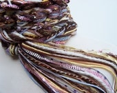 Hand Knit Scarf, CHOCOLATE SPRINKLES Pippy Scarf...Browns, Pastels, Womens scarves Long Skinny Scarf