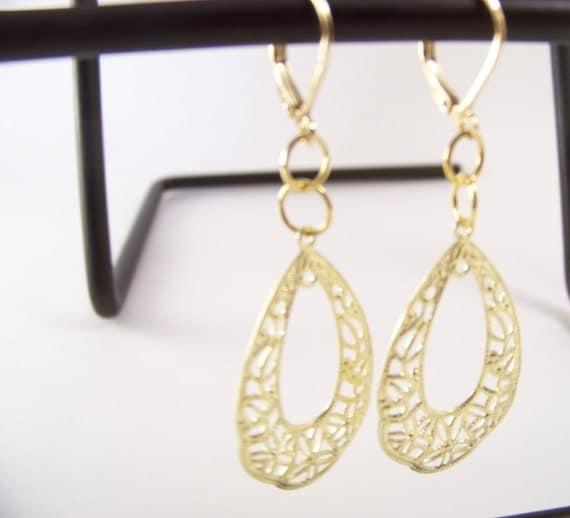 Delicate Gold Earrings, BOGO sale