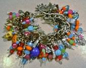 Florescent Day of the Dead Charm Bracelet