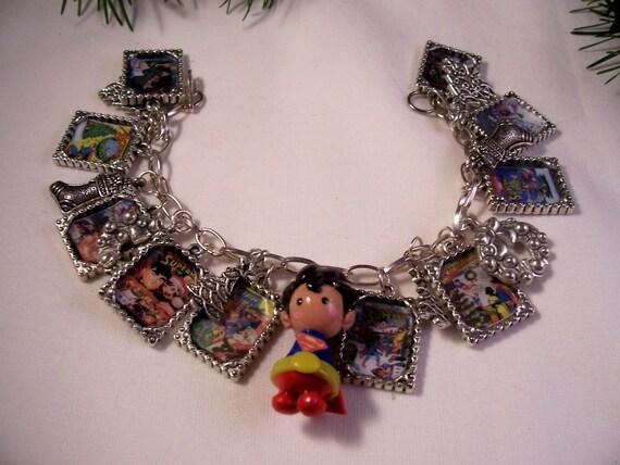 with superman charm bracelet