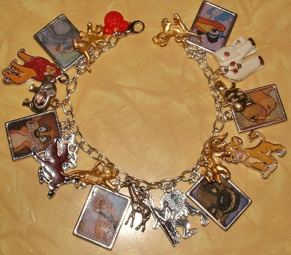 Disney's Lion King Altered Art Charm Bracelet - CUSTOM ORDER FOR Ariana Quinby (aquinby13)