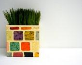 5 inch Square Vintage Mosaic Box