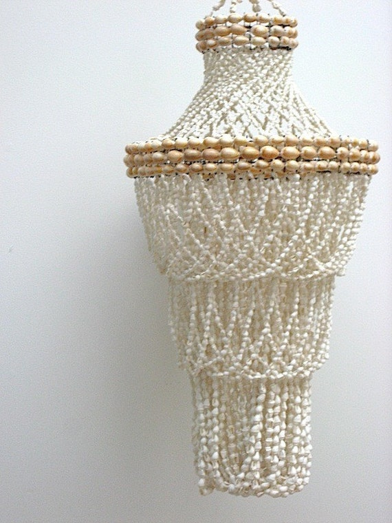 Vintage Shell Chandelier ON HOLD By OlsonPlace On Etsy