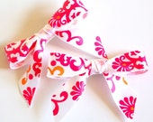 White Pink Orange Patterned Hair Bows Enter CYBER30 at checkout for 30% off