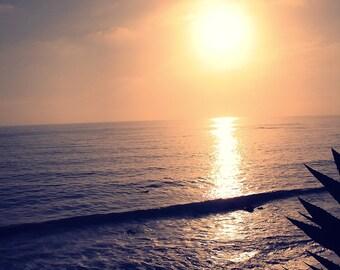 Photography Print 5x7 Ocean Sunset