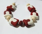 Jigsaw, Etched Set of 6 Lampwork Beads SRA GBUK FHF Y3