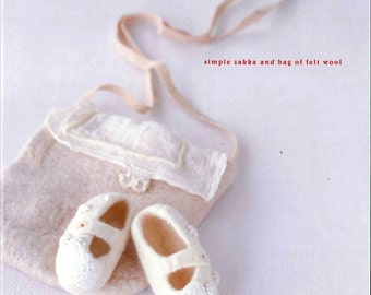 Out-of-Print Simple Zakka and Bag of Felt Wool - Japanese craft book