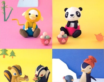 3 Dimensional Felt Animals in Forest - Japanese craft book