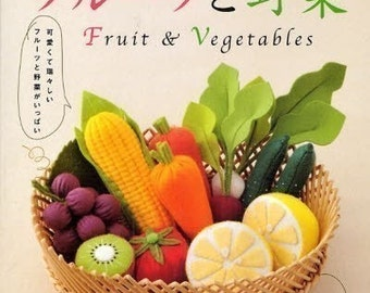 Out-of-print Handmade Felt Fruits and Vegetables - Japanese craft book