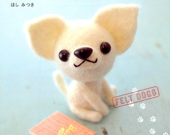 Out-of-print Master Mitsuki Hoshi Collection 06 - Felt Dogs - Japanese craft book