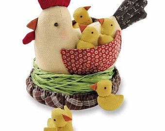 Ideal Playing Toy. Discontinued Chicken Patchwork Doll Family Japanese craft kit