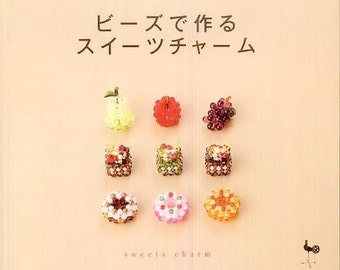 Out-of-print Beaded Small Food and Dessert - Japanese craft book