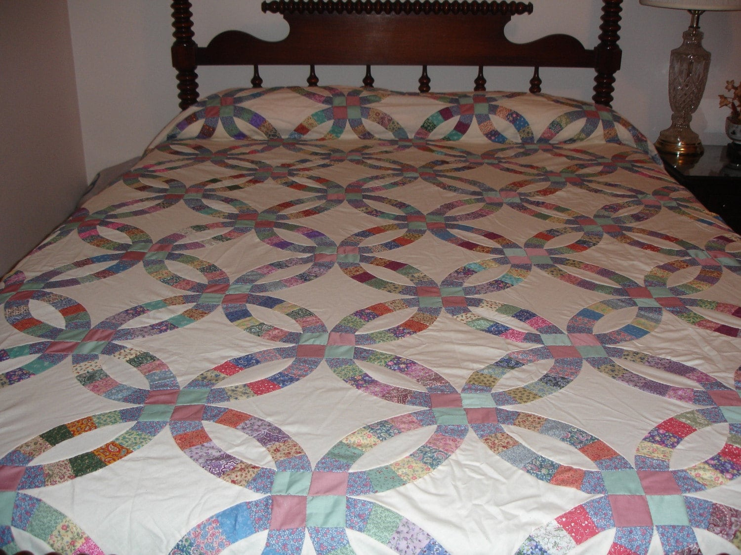 Quilt Top Double Wedding Ring Pattern Queen By
