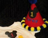 Birthday Mouse Clubhouse Shirt and Hat Set
