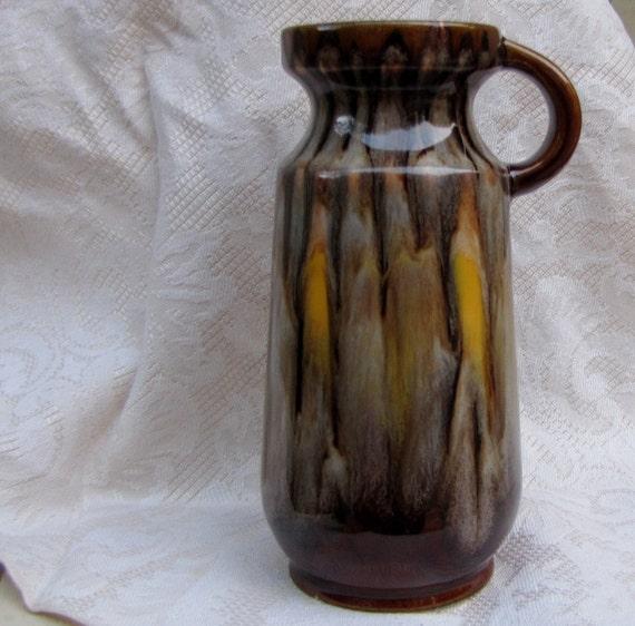 SALE: Austrian Modernist Vase with lava glaze