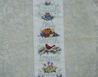 ON SALE******* Cross Stitch Needlecraft Banner For Mother  Completed