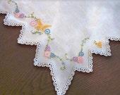 embroidered dresser scarf TREASURY