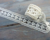 Crocheted lace trim