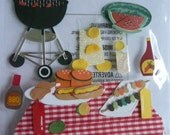 PICNIC TIME Jolee's Boutique Scrapbooking Supplies stickers - Bbq, watermelon