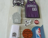 New OFFICIAL LICENSED NBA Team Stickers - SACRAMENTO KINGS, Number 1 fan, Basketball, Boy, Summer, Tickets