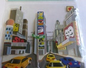 BROADWAY TIMES SQUARE Jolee's Boutique Scrapbook 3d stickers- Nyc, New York