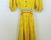 Vintage 1950's Sunny Yellow Day Dress