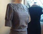 Folded Top for Fall black white grey