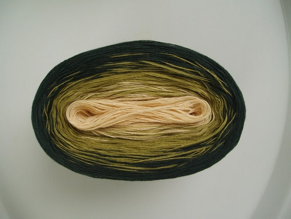 NATURAL GREEN A  Color Changing Cotton  100 gr / 480 yds  Fingering Weight