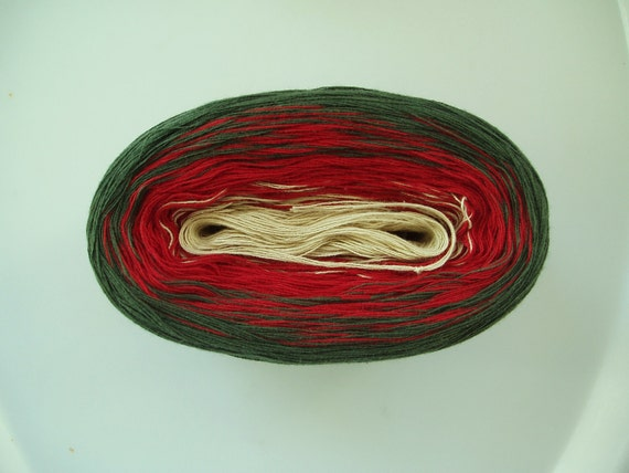 HOLIDAYS Color Changing Cotton yarn  480 yds/100 gr  Fingering Weight