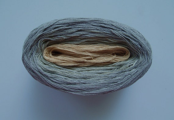 FLAX II  Color Changing Cotton yarn  480 yds/100 gr  Fingering Weight